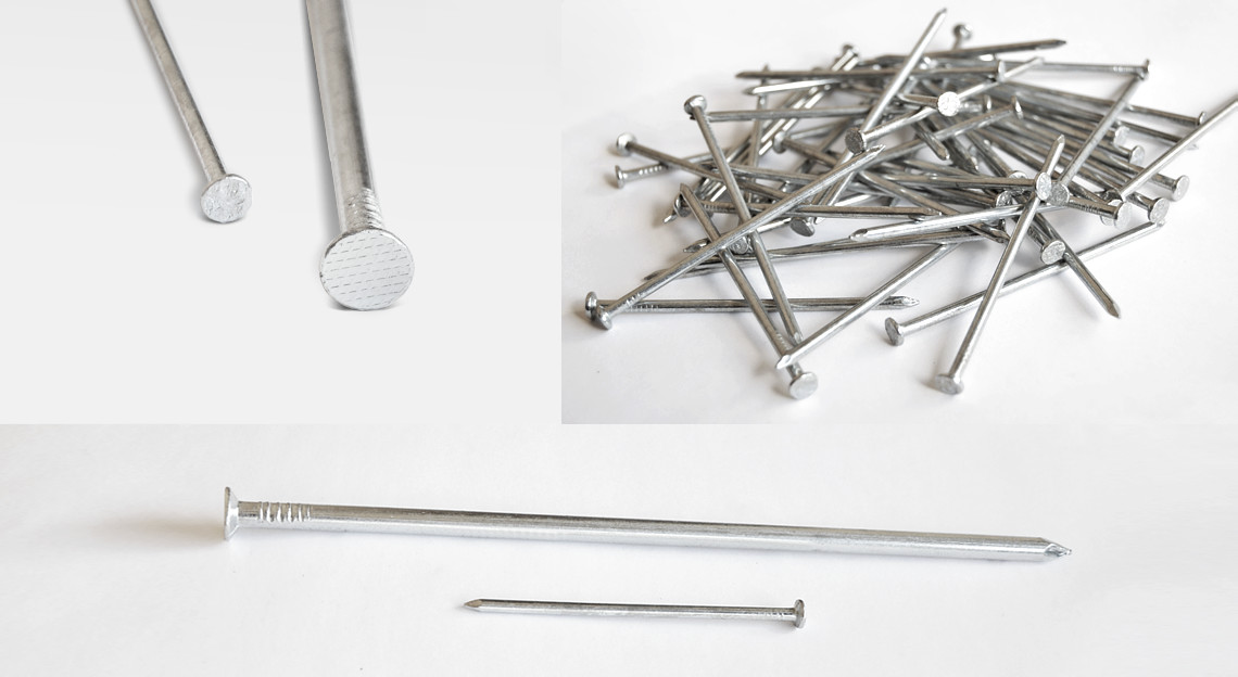 Galvanised building nails